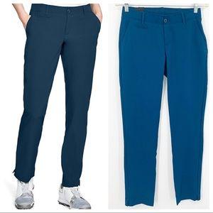 NWT Under Armour Teal Slim Leg Golf Pants 0